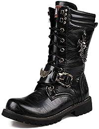 LXLLY Botas Estilo Punk Botas Altas para Hombre Botas Martin Botas para la  Nieve de Cuero cafc913f73a