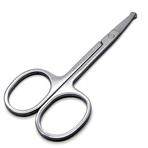 Lurrose Tijeras seguridad cabello Tijera punta roma