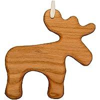 Christbaumschmuck aus Holz Elch | Tannenbaumschmuck | Weihnachtsdeko | Weihnachtsbaum Deko | Weihnachtsbaumschmuck | handgemachte Holz Anhänger | Weihnachten