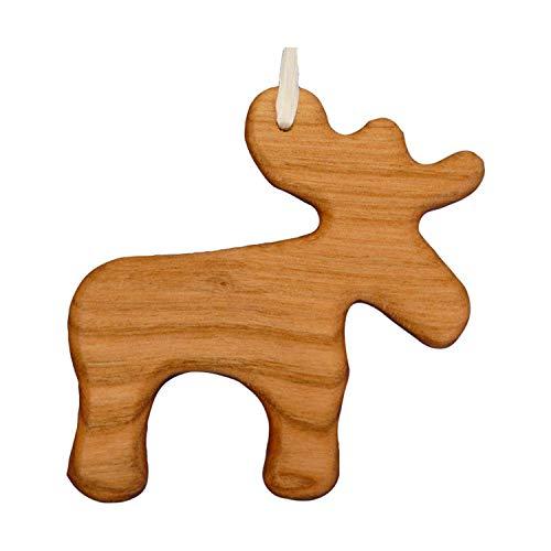 Christbaumschmuck aus Holz Elch   Tannenbaumschmuck   Weihnachtsdeko   Weihnachtsbaum Deko   Weihnachtsbaumschmuck   handgemachte Holz Anhänger   Weihnachten