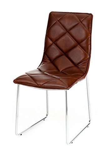 Wink design -Guaynabo - pièce de 4 chaises marron - simili-cuir