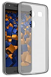 mumbi Hülle kompatibel mit LG Nexus 5X Handy Case Handyhülle dünn, transparent schwarz