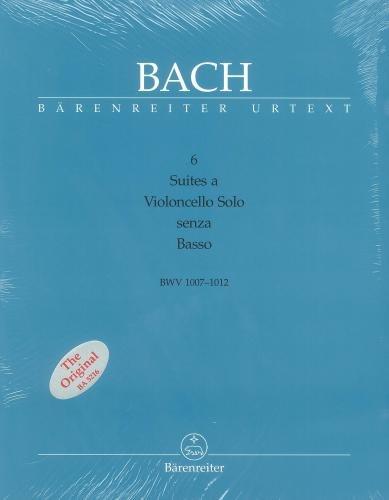 J.S. Bach: Suites (6) for (BWV 1007-1012) (Urtext). 3 volume edition: music, text (Eng), 5 facsimiles. Für Cello