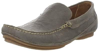 TIMBERLAND EK CITY AUBURNDALE Venetian Leder Schuhe Halbschuhe Slip On Slipper Farbe: Grau/Grey Crunch (5005R); Größe: EUR 45   US 11   UK 10.5
