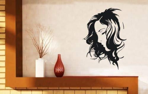 Neueste Angekommene Schönheit Mädchen Sexy Frau Salon Mädchen Wandaufkleber Vinyl Wandbild Für Mädchen Room Art Decor Abnehmbare Tapete 56X89CM