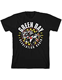 ca6e4317 Green Day Official T Shirt Revolution Radio Album Checker Cat Black