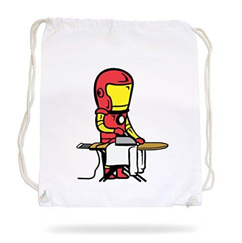 Certified Freak Iron Man Gymsack White