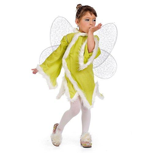 Wiesen Fee Kinder Kostüm mit Flügeln grün für Fasching und Karneval - 9/11 Jahre