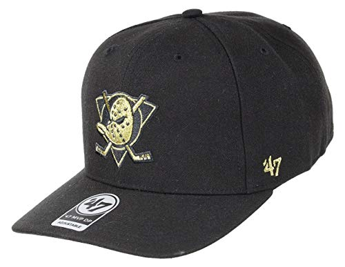 47Brand Anaheim Ducks Snapback Cap MVP NHL Cold Zone Metallic Black/Gold - One-Size (Snapback 47brand)