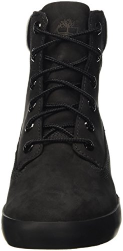 Timberland Flannery 6in, Baskets Basses Femme Noir (Black Nubuck)