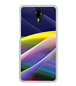 Multicolour Layer Pattern 2D Hard Polycarbonate Designer Back Case Cover for Micromax Canvas Xpress 2 E313