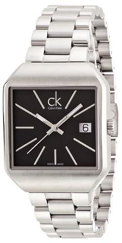 Calvin Klein Women's Quartz Watch with Black Dial Analogue Display Quartz Stainless Steel K3L33161