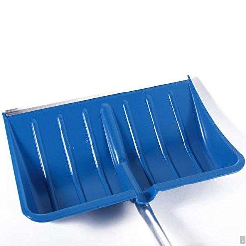 BBT@ / 2 Stück Schneeschaufel Blau + Ergonomisch geformter Aluminium-Stiel + D-Griff + Kantenschutz aus Aluprofil / Leicht + Stabil / Blatt: 55x36cm / Gesamtlänge: 135cm / Schneeschieber Winterdienst Schneeräumer Schneepflug - 3
