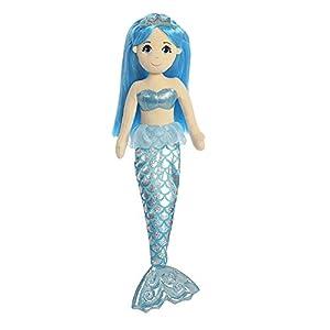 Aurora Juguete de Felpa World Sea Shimmers, Sapphire la Sirena (Grande, Color: Azul/melocotón/Plata)