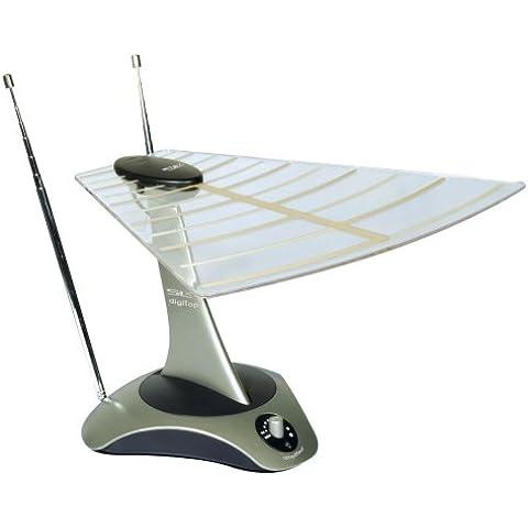 Philex SLX Gold digiTop - Antena para interior de alto rendimiento para televisores (UHF/Freeview), radio FM, radio digital terrestre y banda ancha