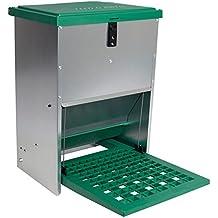 Geflügelfutterautomat Feedomatic mit Pedalzufuhr, bis zu 12kg Futter, Hühner,Puten, Gänse, Enten