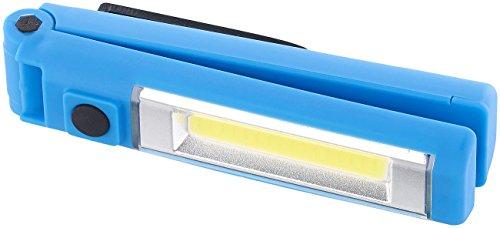 Lunartec Magnet Lampen: Klappbare Arbeitsleuchte mit 16 COB-LEDs, 1 Watt, 100 Lumen, IPX4 (Taschenlampen mit Magnet Halter) -