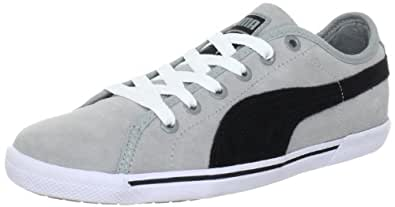 Puma Benecio Suede 351565, Unisex - Erwachsene Sportive Sneakers, Grau (limestone gray-black-white 10), EU 36 (UK 3.5) (US 4.5)