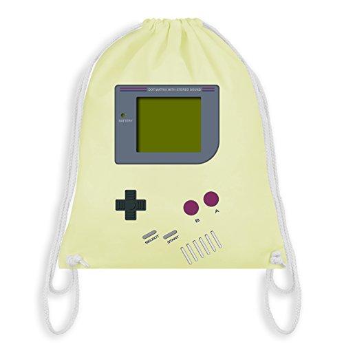 Shirtracer Nerds & Geeks - Gameboy - Unisize - Pastell Gelb - WM110 - Turnbeutel I Gym Bag