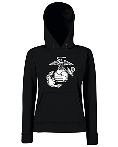 T-Shirtshock - Sweats a capuche Femme OLDENG00706 usa marines Noir