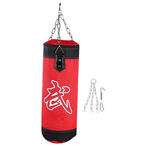 VGEBY1 Sacchi da Boxe, Kick Bag Boxing Attrezzature per l'allenamento di Boxe(60CM-Rosso)