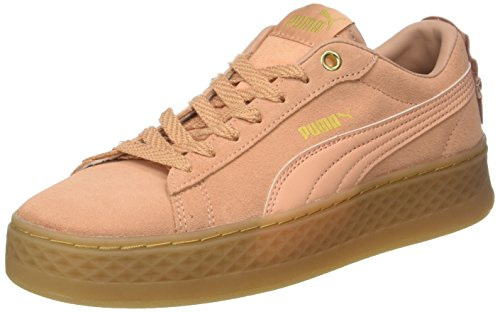 Puma Damen Smash Platform Frill Sneaker, Orange (Dusty Coral-Dusty Coral-Puma Team Gold), 39 EU (6 UK) - Team Orange Schuhe