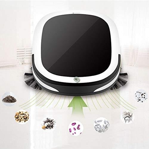 Jackeylove Aspiradora Robot Smart Sweeper casa Mini Robot Inteligente aspiradora de Piso, fregona sin Cuerda y húmeda, Adecuado para Suelo Duro y Alfombra de Lana Baja