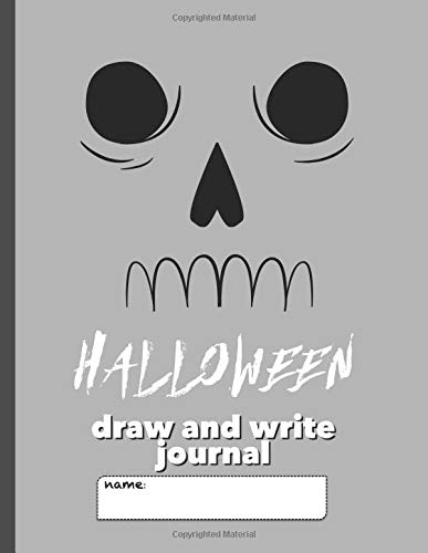 rite Journal: Writing Notebook for Kids with large space for drawing pictures and wide lines to encourage creative writers (Gray Skull) ()