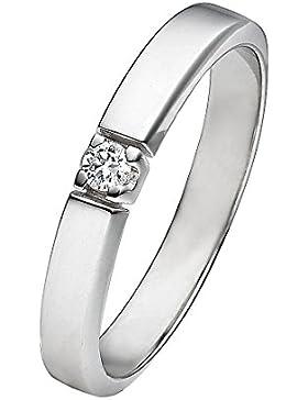 CHRIST Diamonds Damen-Ring 333er Weißgold 1 Brillanten ca. 0,06 ct. 50, weißgold