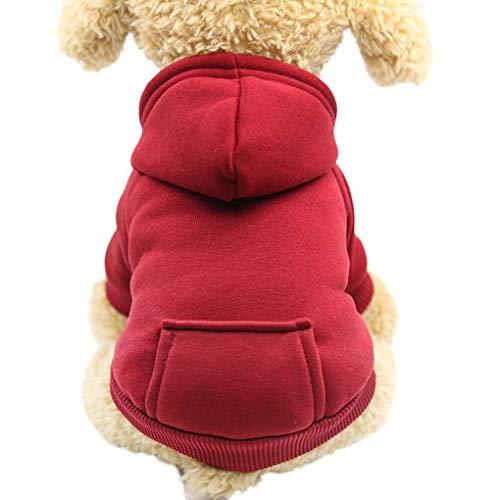 Bodbii Herbst-Winter-HundeHoodie Zurück-Taschen-Entwurf Hunde-Bekleidung Sport-Art-Hundekatze-Haustier Warm -