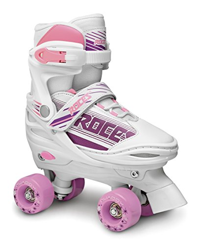 Roces QUADDY Girl Skate, Bimba, Blanco/Rosa, 25-29