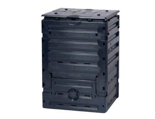 GRAF-Komposter-ECO-Master-Gartenkomposter-Kompostbehlter-Thermokomposter-eckig-in-schwarz-verschiedene-Fllmengen