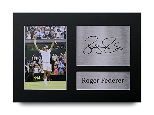 Roger Federer Signiert A4bedruckt Autograph Tennis Print Foto Bild Präsentation Display–tolle Geschenkidee