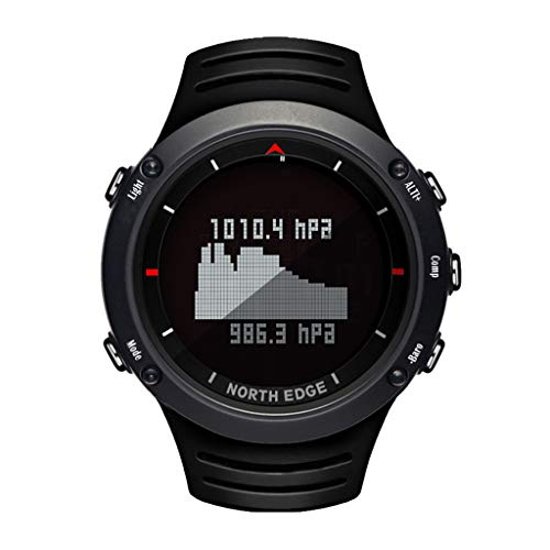 Outdoor Uhr Fitness Uhren Rund Swatch Herren Uhren Hybrid Smartwatch Fitness Smaet Watch North Edge Altay Sports Smart Outdoor-Kompass-Armbanduhr-Rücklicht für die Fischerei