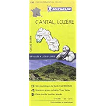 Carte Cantal, Lozère Michelin
