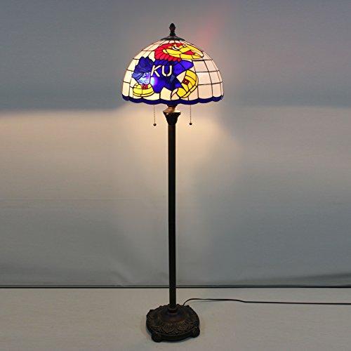 16-Zoll-NCAA Kansas Jayhawks Glasmalerei Stehlampe