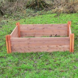 The 'Long' FSC Modular Wooden Raised Bed - Single Layer