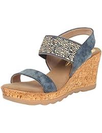 Catwalk Blue Wedges Heel Sandals