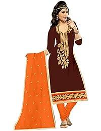 Mahi Fashion Women's Cotton Dress Material (MF08_Free Size_Multi-Coloured)