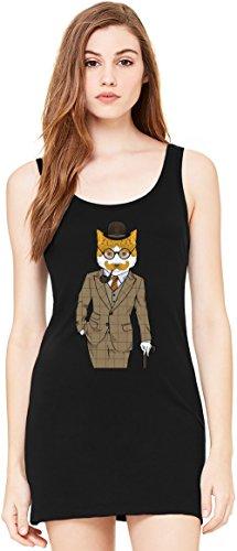 c ärmellose Tunika Sleeveless Tunic Tank Dress For Women| 100% Premium Cotton| X-Large (Black Cat Fancy Dress)