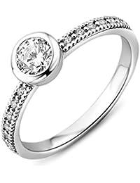 Miore Damen Sterling Silber (925) Solitär Verlobungsring mit Zirkonia