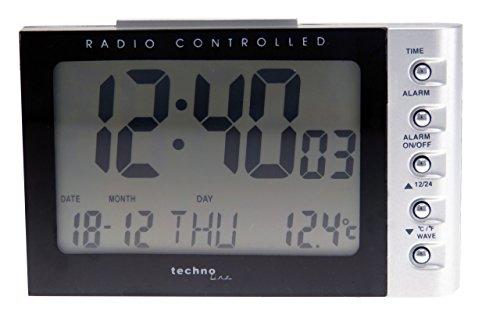 Technoline WT 188 Radio-Despertador, Plata y Negro, 11.5x7.5x7.3 cm