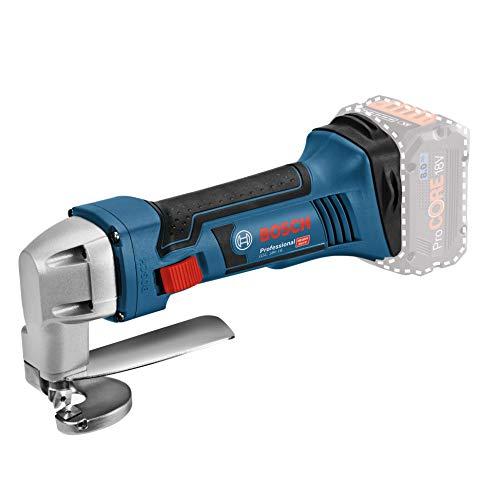 Bosch Professional 601926200 Bosch Cisaille à tôle sans fil GSC 18V-16 0601926200, Bleu