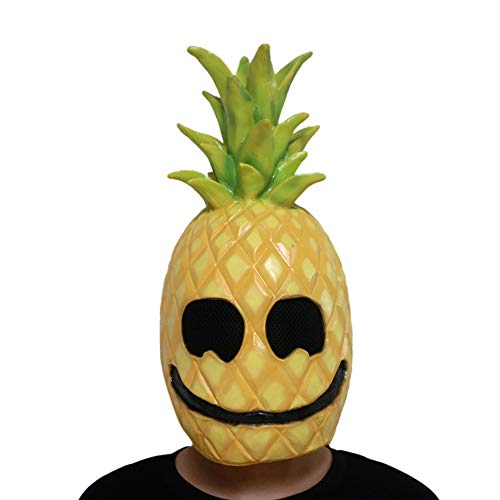 YXXHM- Obst Ananas Maske lustig spielt Requisiten Ball Party Bar Helm Halloween Latex lustig