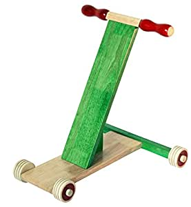 Maya Organic Wooden Baby Walker - Scootle(Green)
