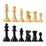 Quality Club Chess Pieces With 3 3/4 Kin...
