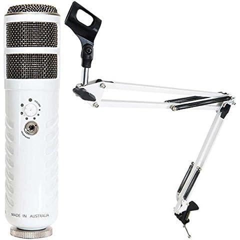 Rode Podcaster USB Micrófono Keepdrum 5-nb35WH Blanco Mesa brazo de micrófono