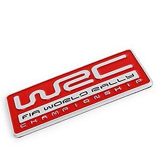 Alamor 3D-Aluminium-Legierung Autoaufkleber Emblem Klebstoff Logo Auto Styling Badge - Rot