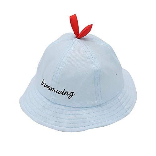 J&LILI Sonnenhut, Frühling und Sommer dünner Schnitt, Trend Junge und Mädchen Fischer Hut, Kinderbecken Mütze, eine Vielzahl von Farben zur Auswahl,C