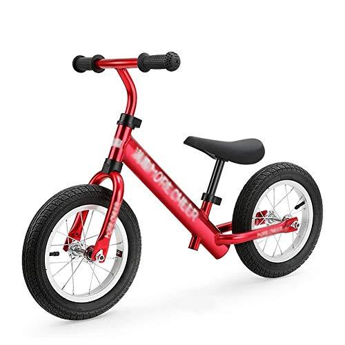 Laufräder, Kinderfahrrad, leichtes Lernfahrrad, Laufrad ohne Pedal, verstellbare Sitzluftreifen für Kleinkinder von 2-6 Jahren, Geburtstagsgeschenk ZHAOFENGMING (Color : Red, Size : As Shown)